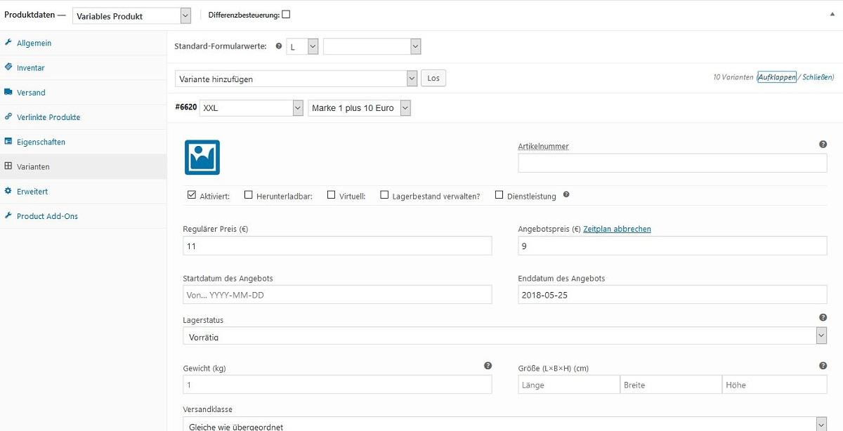 Varianten Webdesign Hechthausen Onlineshop
