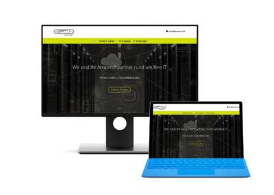 Seite für einen Dienstleister im IT Bereich