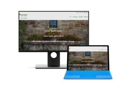 Seite für eine Gartenbaufirma in Herford