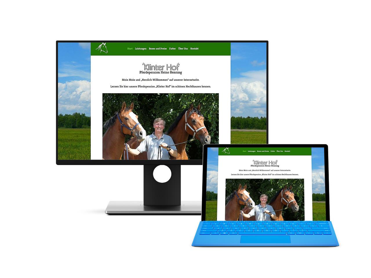 Pferdepension Klint Webdesign Hechthausen Hemmoor Wingst Cuxhaven Stade