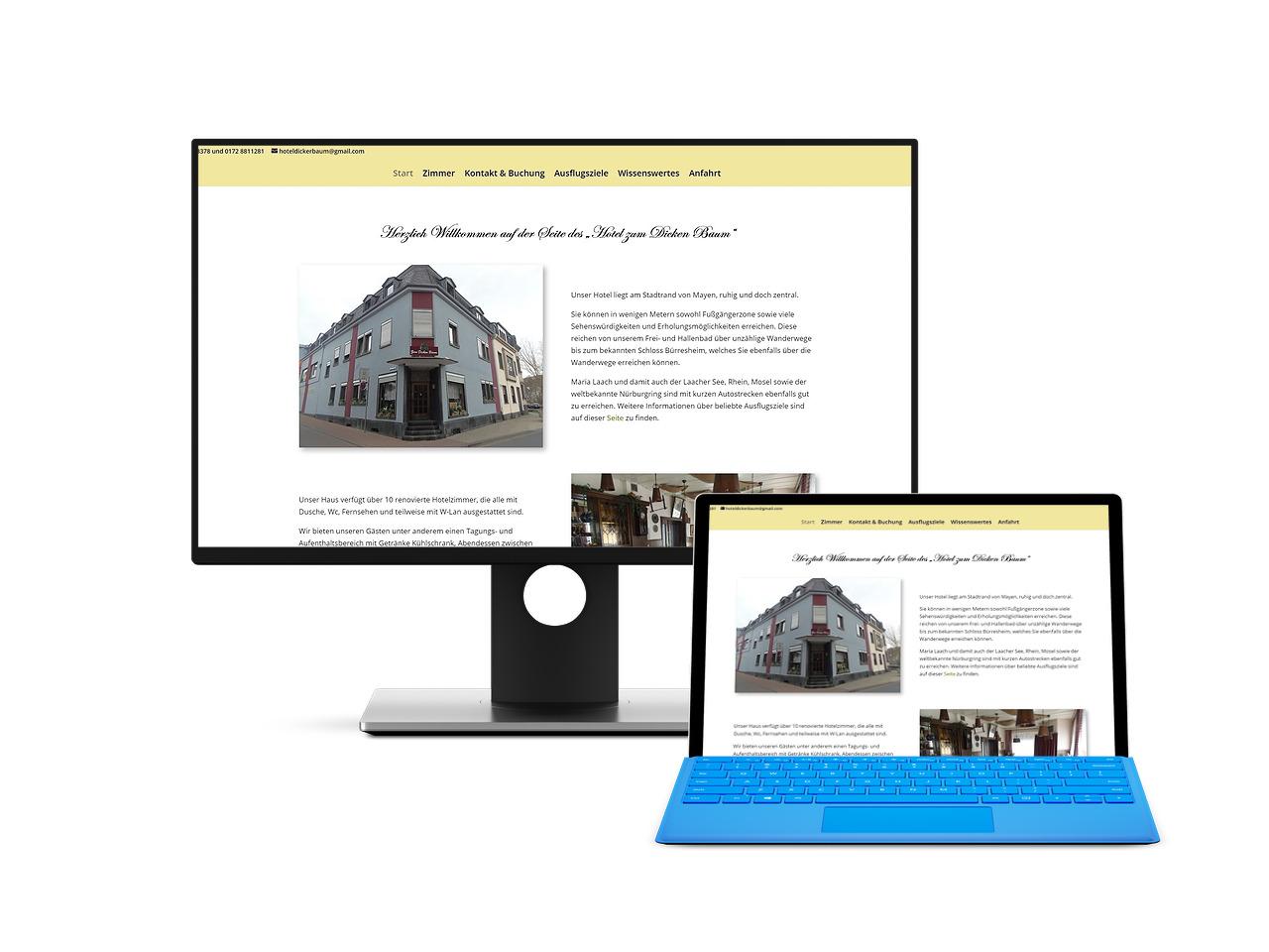 Webdesign Hechthausen Hemmoor Wingst Geestland Mayen Ferienwohnung