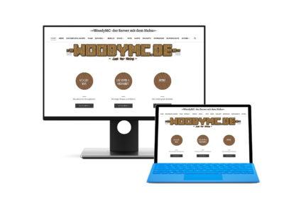 Seite für Minecraftserver