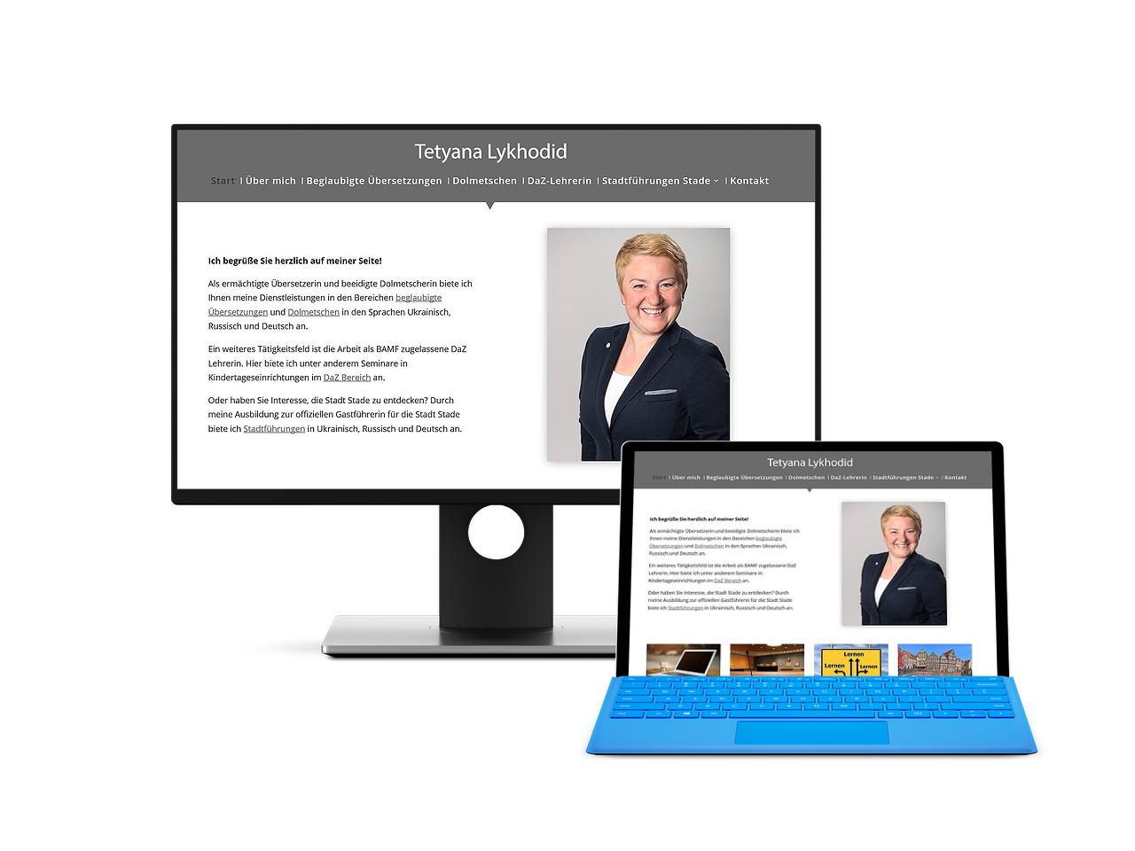 Übersetzer Dolmetscher DaZ Lehrerin Stade Webdesign Homepage Webseite Hemmoor Buxtehude Hechthausen Webdesign