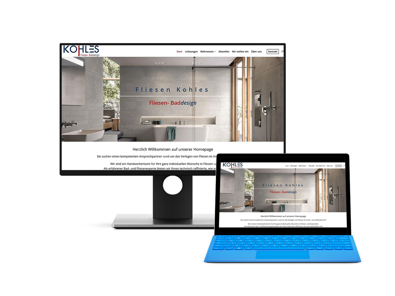 Webdesign KMU Kirchen Fliesenleger Kohles Homepage Handwerk Hemmoor Wingst Hechthausen