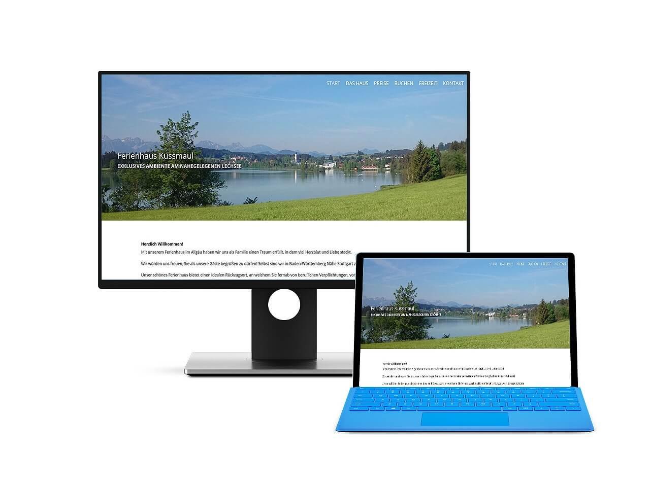 Webdesign Hechthausen Ferienhaus Kussmaul Via Claudia Lechbruck am See