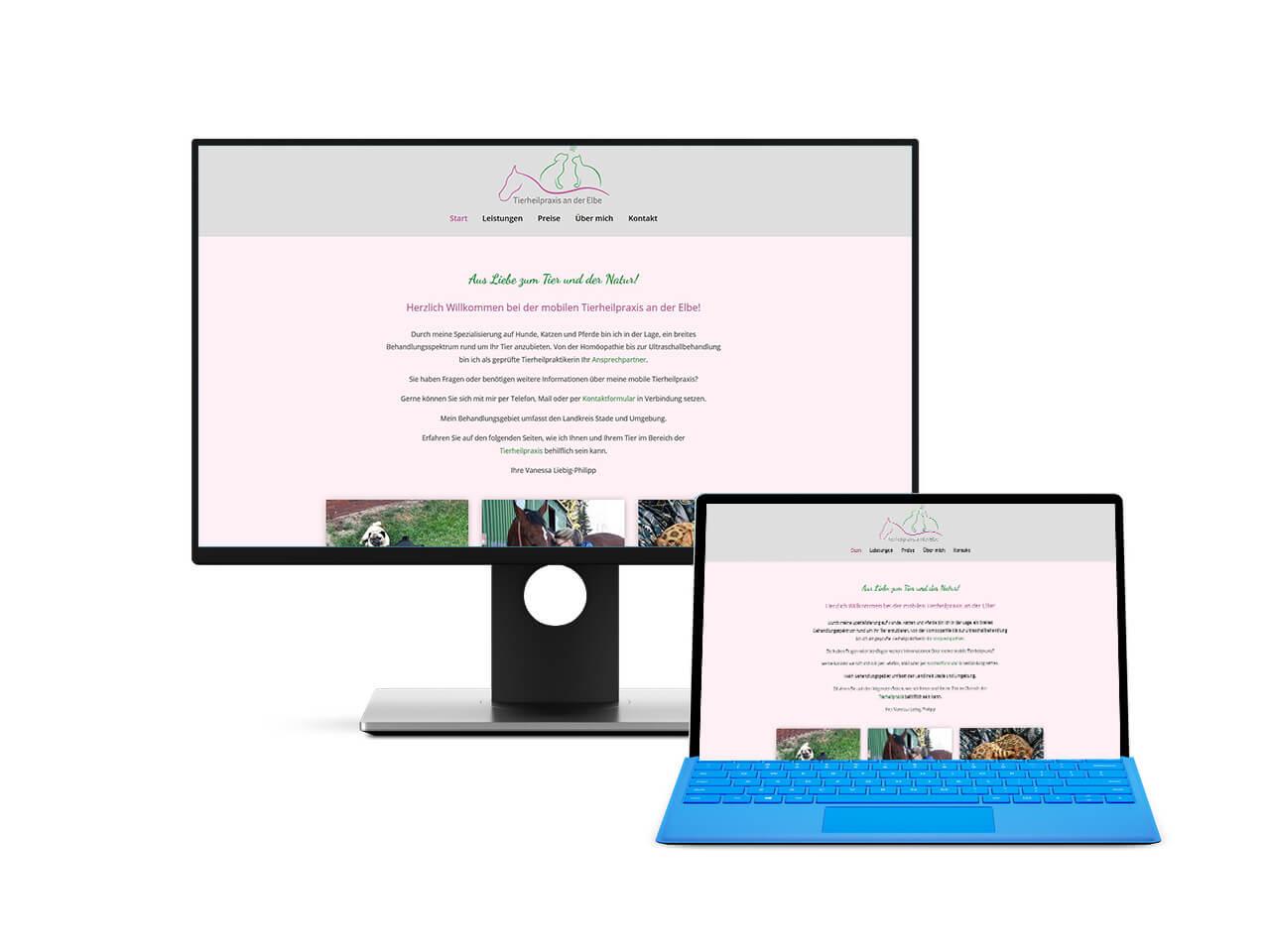 Webdesign Hechthausen Tierheilpraxis Stade Hemmoor Buxtehude mobile Heilpraxis für Pferde Hunde Katzen