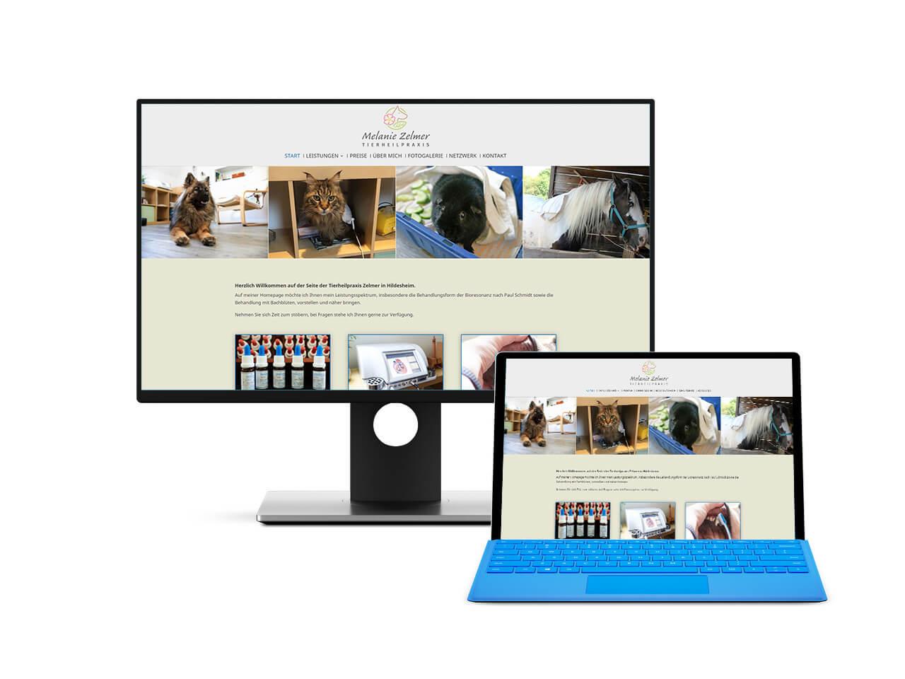 Webdesign Hechthausen Homepage für Tierheilpraktiker und Tierärzte
