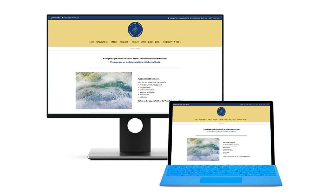 Seite für einen Online Shop aus Hemmoor