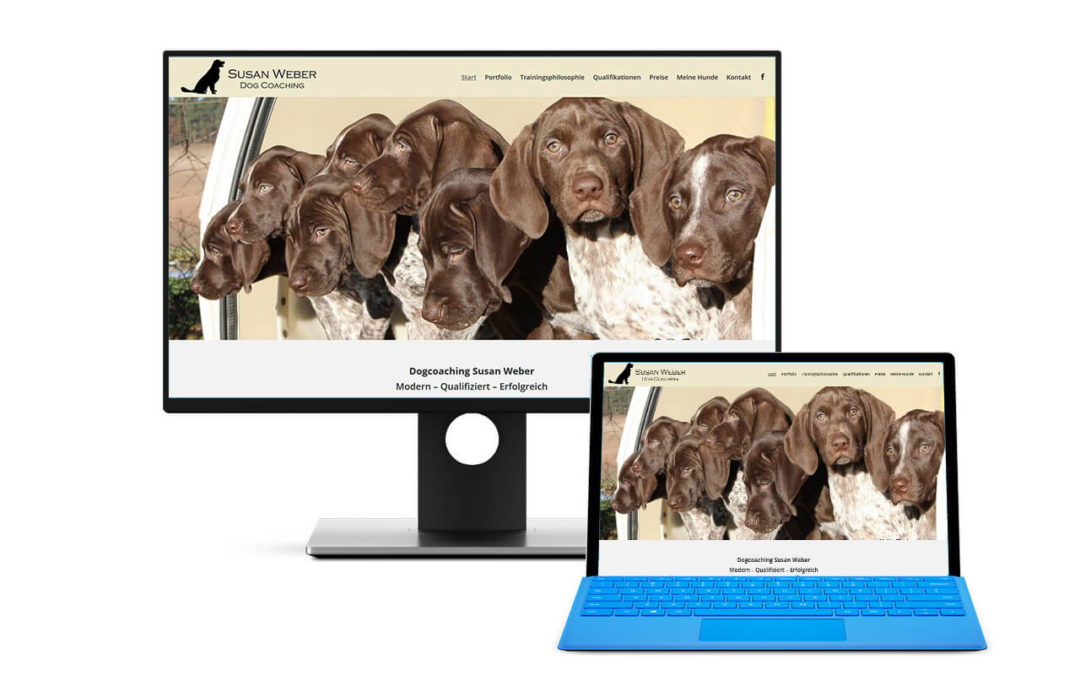 Seite für Dogcoaching Susan Weber