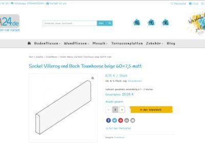 Ansicht einfaches Produkt Onlineshop