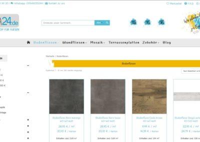 Ansicht Filter auf Kategorieseiten