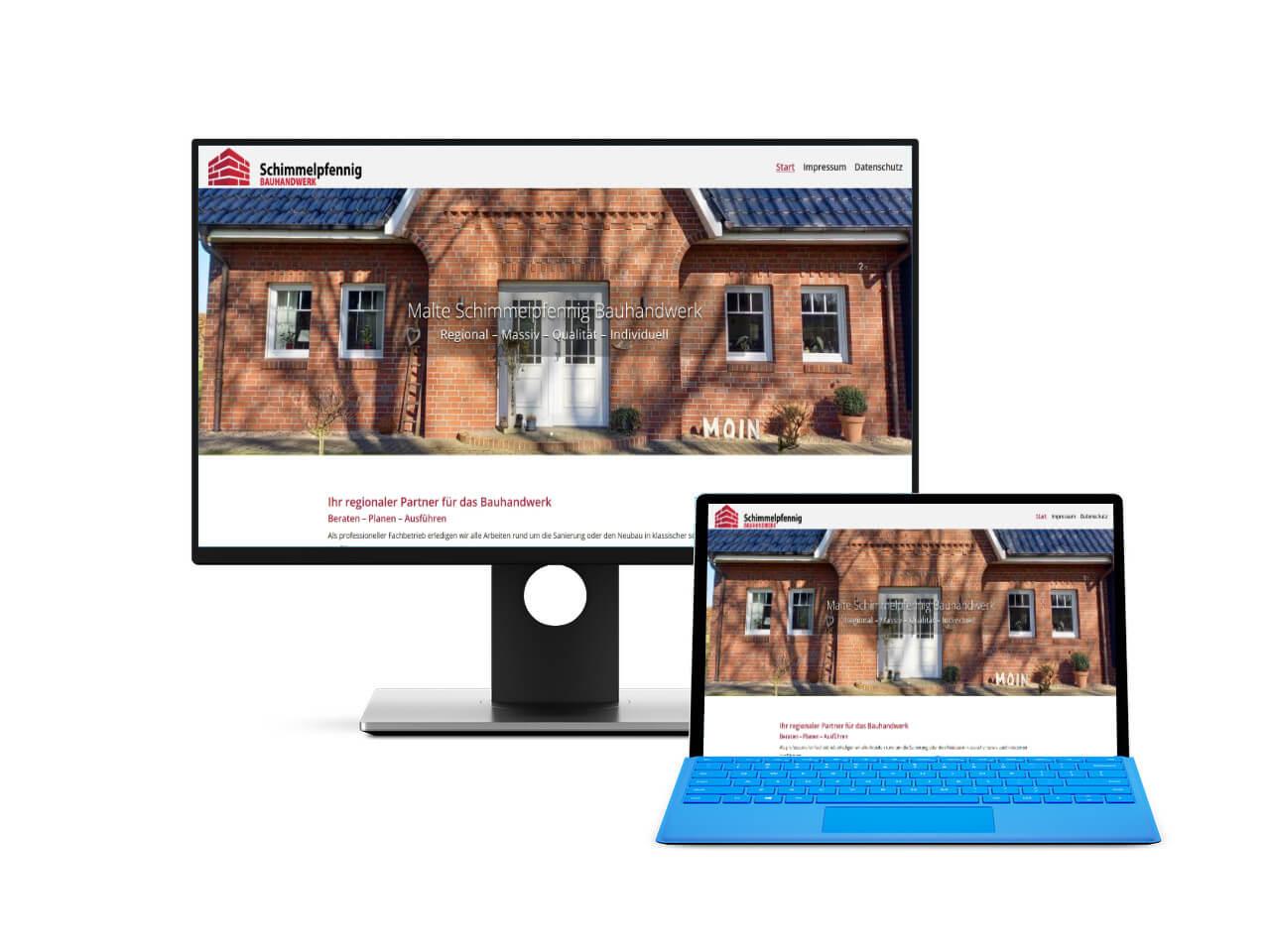 Ansicht der Webseite als Vorschaubild