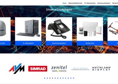 Beisielbild Webdesign Nimse Elektronicsysteme Drochtersen